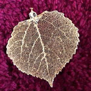 Jewelry - Real gold dipped leaf pendant from Colorado.